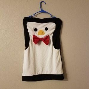 Strapless penguin dress